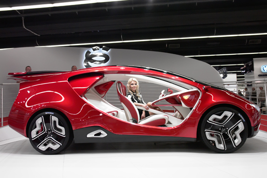 Frankfurt - sep 17: yo-mobile car shown at the 64th internationale automobile ausstellung (iaa) on september 17